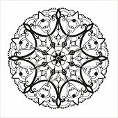 stock photo of kaleidoscope  - Geometric circle element made in vector - JPG