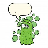 image of funny ghost  - cartoon funny ghost with speech bubble - JPG
