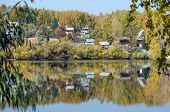 pic of siberia  - Picture of the Forest lake in sunny aurumn day in Siberia - JPG