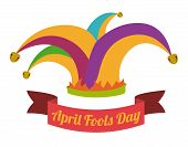 pic of fool  - April fools day design - JPG