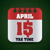foto of payday  - Taxes design over green background - JPG