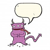 pic of demons  - cartoon little demon with speech bubble - JPG