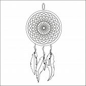 stock photo of dream-catcher  - Indian Dream catcher - JPG