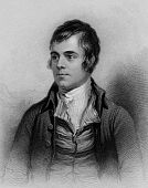 stock photo of eminent  - Scottish poet Robert Burns engraving from A Biographical Dictionary of Eminent Scotsmen 1870 - JPG