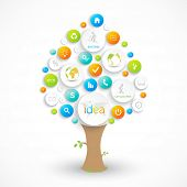 stock photo of descriptive  - Business plan tree with place for your text - JPG