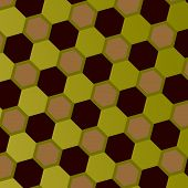 stock photo of hexagon pattern  - Abstract geometric honeycomb pattern - JPG