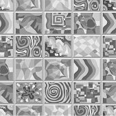 picture of peculiar  - Abstract seamless pattern consisting of many unusual stories - JPG
