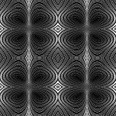 image of twist  - Design seamless monochrome decorative background - JPG