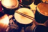 stock photo of drums  - Drums conceptual image - JPG