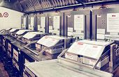 foto of deep  - Deep fryers on restaurant kitchen - JPG