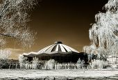 picture of prospectus  - Moscow grand circus infrared view Russia spring