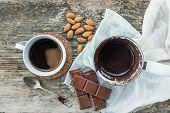 stock photo of brew  - Coffee set - JPG