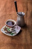 pic of brew  - A cup of coffee on the table - JPG