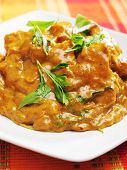 foto of curry chicken  - Chicken tikka masala - indian meal with curry