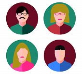 image of marsala  - Faces Circle Icons Flat Style - JPG