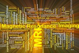 picture of magnetic resonance imaging  - Background concept wordcloud illustration of magnetic resonance imaging MRI glowing light - JPG