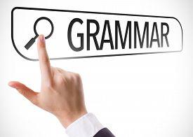 image of verbs  - Grammar written in search bar on virtual screen - JPG
