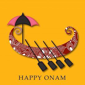 pic of pookolam  - illustration of a colorful background for Onam celebration - JPG