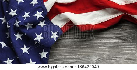 poster of Red, white, and blue American flag for Memorial day or Veteran's day background