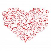 Stylized heart on white background