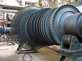 Power Generator Steam Turbine During Repair, Machinery At A Power Plant