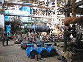 Power Generator Steam Turbine During Repair, Machinery