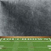 Dimensional Football Room with a Chalk Wall.