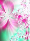 Fractal image of a pastel spring background.