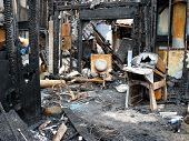 pic of mayhem  - Remains of a house fire in Virginia Beach Virginia 19 July 2007 - JPG
