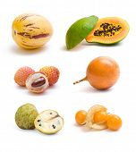 stock photo of pawpaw  - exotic fruit collection - JPG