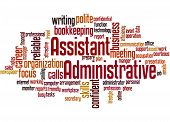 Administrative Assistant, Word Cloud Concept poster