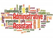 Administrative Assistant, Word Cloud Concept 3 poster