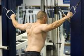 picture of fitness man body  - fitness gym training - JPG