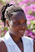 Estilo de cabelo de jovem mulher africana, Zimbabwe,