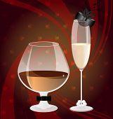 Cognac und champange