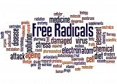 Free Radicals, Word Cloud Concept 2 poster