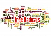 Free Radicals, Word Cloud Concept 5 poster