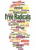 Free Radicals, Word Cloud Concept 7 poster