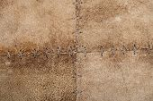 High resolution stitched suede leather texture