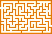 Orange vector labyrinth