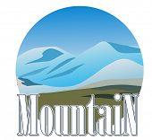 Icono de la montaña. Ilustración del vector.