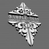 3D Decorative Vintage Ornate Banner.