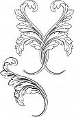 Baroque Two Styles: Traditional and Calligraphy.All Curves Separately.