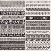 Big Set Of Vector Decorative Border Lines