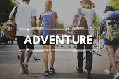 Young people travel adventure journey life poster