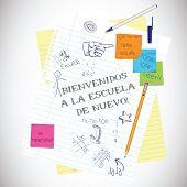 Back to School Spanish Illustration