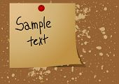 Editable vector background - Note pad reminder on a message board
