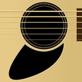 Editable vector illustration - Acoustic guitar close up