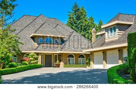 Residential House With Massive Roofs