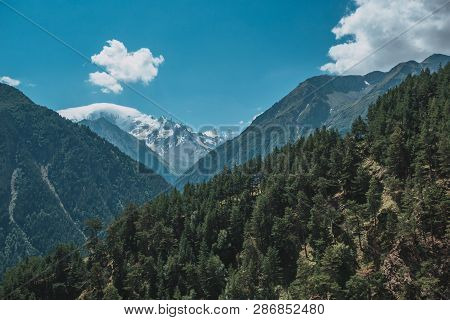 Elbrus Mountains In Summer